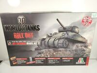 Italeri 37503 1:35 World of Tanks M4 Sherman Tank Open Box