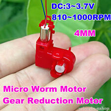 4*12mm Mini Coreless DC Motor  DC 3V 3.7V 1000RPM Micro Worm Gear Motor DIY Toys