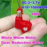 4*12mm Mini Coreless DC Motor  DC 3V 3.7V 1000RPM Micro Worm Gear Motor DIY Toys