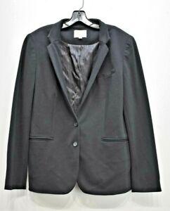 Ann Taylor Loft Women Black Notch Lapel 2 Button Besom Pocket Dress Blazer 14