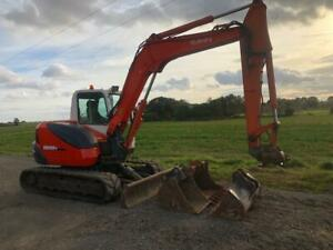 KX080-3 Digger Excavator 8 ton with buckets