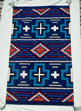 "INDIGO! Navajo Churro Hubbell Trading Post Style Serape / Rug 36""x60"""