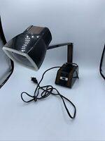 Vtg Telescoping Portable Woodgrain Lamp Underwriters Laboratories 72474 Desk Arm