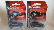 MAJORETTE NEW OUT PREMIUM CARS A MET BLUE PEUGEOT 308 GT,BLACK RENAULT MEGANE.