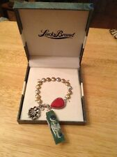 NWT Lucky Brand Silver And Gold Tone Bracelet With Heart And Flower Charm