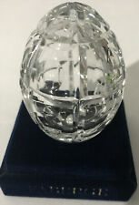 Faberge 1994 Crystal Egg Made in Russia. #0576 Measures: 2.25 inches high