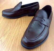 Clifford James Penny Loafer Slip On Shoe Genuine Leather Hand Stitched UK Size 8