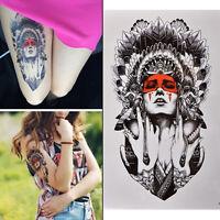 Nouveau Tatouage Temporaire De Femmes Tatouage Temporaire Grand Bras Art De RZ