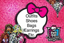 Monster High Doll Accessories, Outfits, Shoes, Jewerly, Clothes, Bags choose #1