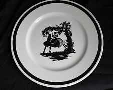 1954 - Syracuse China - Early American Silhouttes - 10 1/2 inch Plate