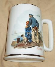 Norman Rockwell Tankard Mug Cup Looking Out To Sea Porcelain 1985 Vintage