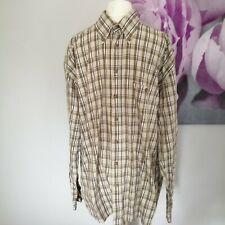 Camel Active Mens Green Check Plaid Long Sleeve Button Down Shirt Size L