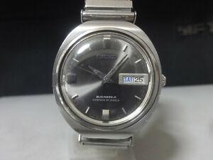 Vintage 1967 SEIKO Automatic watch [BUSINESS-A] 27J 8346-7000 Rare Black dial