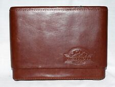 "Cigars International Distressed Brown Leather Cigar Humidor Case 6"" H & 7.5 Wide"