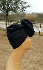 Solid Black Headwrap; Black African Headwrap; African Clothing; African Fabric