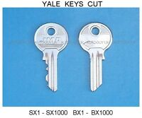 YALE BX - SX SERIES KEYS CUT TO CODE NUMBER - OVAL CYLINDER FILING CABINET LOCK