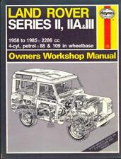 LAND ROVER SERIES II,IIA,III COUNTY,88,109,SERIES 2,2A,3 HAYNES MANUAL 1958-1985