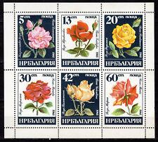 Bulgaria - 1985 Roses - Mi. 3373-78 KB MNH