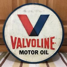 Embossed Valvoline Gas Pump Petroleum Motor Oil Texaco Sinclair Mobil Can Wall