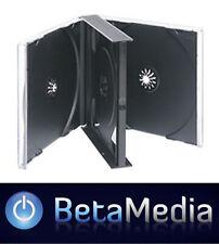 80 x Quad Jewel CD Cases - Black Tray 24mm - Holds 4 discs