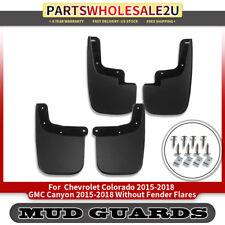 Splash Guards Mud Flaps Mudguard RH&LH 4pcs for Chevrolet Colorado Canyon 15-19