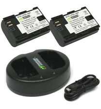 LP-E6 Charger dual USB for Canon and (2 Pack) Battery Wasabi Power