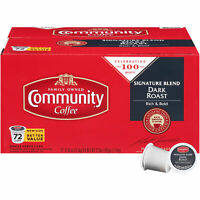 *SALE* Community Coffee Single Serve Pods - Signature Blend Dark Roast, 72 Count