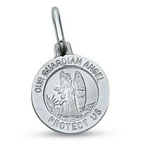 14k Yellow Gold Saint Rocco Pray For Us Words On Round Medal Pendant 21x18mm