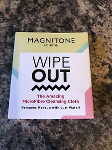 Magnitone Wipe Out Microfibre Cleansing Cloth Blue Removes Make Up Eco Friendly
