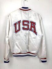 Vintage Swingster Satin Jacket USA Team Olympic Firestone Embroidered Medium