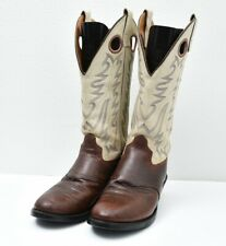 Old West USA Tall Top Buckaroo Western Cowboy Riding Leather Boots Mens Sz 9 EE