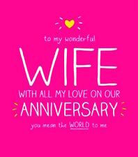 Happy Jackson Card: Happy Anniversary Wife - New In Cello (GF761B)