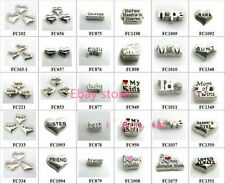 10p Love Words Heart Floating Charms DIY Glass living Memory For Floating locket