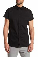 HELMUT LANG Short Sleeve Shirt Black Sz L 141791