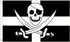 Cornwall Kernow Pirate Polyester Flag  Exclusive Design