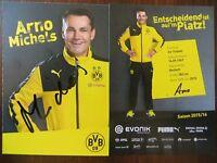 Handsignierte AK Autogrammkarte *ARNO MICHELS* Borussia Dortmund 15/16 2015/2016