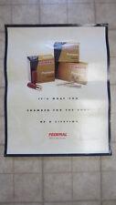 Federal Premium Shotgun Shells & Rifle Cartridges Poster, 28 in. x 22 in.