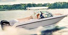 2 Boston Whaler Boats LARGE Chrome Decal Sticker Emblem Yacht Skipper Fishing