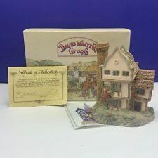 David Winter cottage figurine sculpture Hine nib box coa Suffolk house 1985 mcm