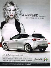 PUBLICITE ADVERTISING  2010   ALFA ROMEO GUILIETTA