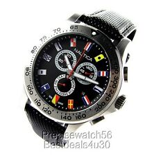 NEW NAUTICA MENS WATCH CHRONOGRAPH -- YACHTSMAN COLLECTION NST 07 YACHTING FLAGS