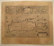 GREECE MERCATOR 1590 MAP OF CRETE CRETA CANDIA CANDIE