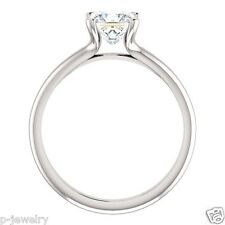 Moissanite Forever Brilliant Solitaire Fashion Ring 14K Gold Princess Square Cut