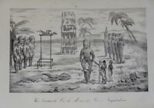 Litho VOYAGE ARAGO COSTUME HAWAI ILES SANDWICH ISLANDS NATIVE 1840 PACIFIQUE a