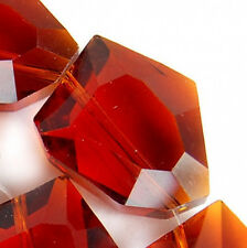 15x19mm Faceted Red Quarzt Nugget Beads 12pcs