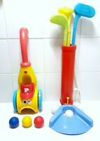 Playgo Musical Scoop-a-Ball Launcher & Kids Plastic Toy Golf Set