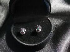 Handmade .925 Sterling Silver and Red-GreenBlack Ethiopian Opal Earrings
