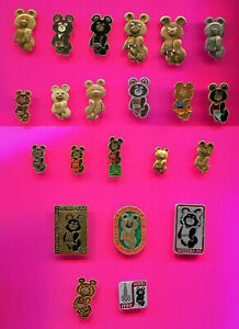 1980 MOSCOW OLYMPIC PINS MISHA BEAR MASCOT PINS  PICK A PIN 1-2-3 ADD TO CART