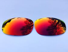 ENGRAVED POLARIZED FIRE RED CUSTOM MIRROR REPLACEMENT OAKLEY SPLIT JACKET LENSES