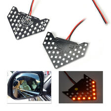 2Pcs 33 SMD LED Arrow Panel Rear View Sequential Side Mirror Turn Signal Light